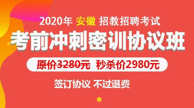 2020安徽考前冲刺协议班