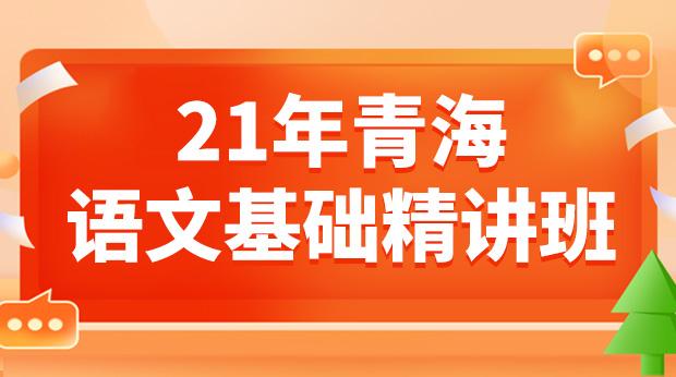 21年青海语文基础精讲班