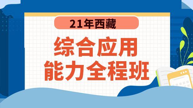 21年西藏综合应用能力全程班
